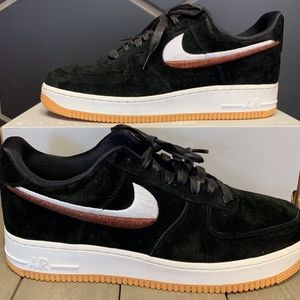 Womens Nike Air Force 1 07' LX Black Gum Shoe